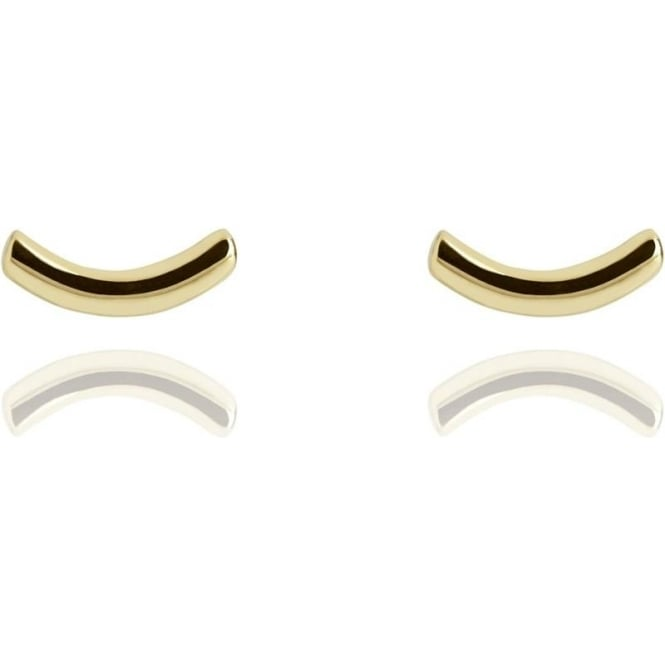 Life & Vitality Arc Stud Earrings Gold