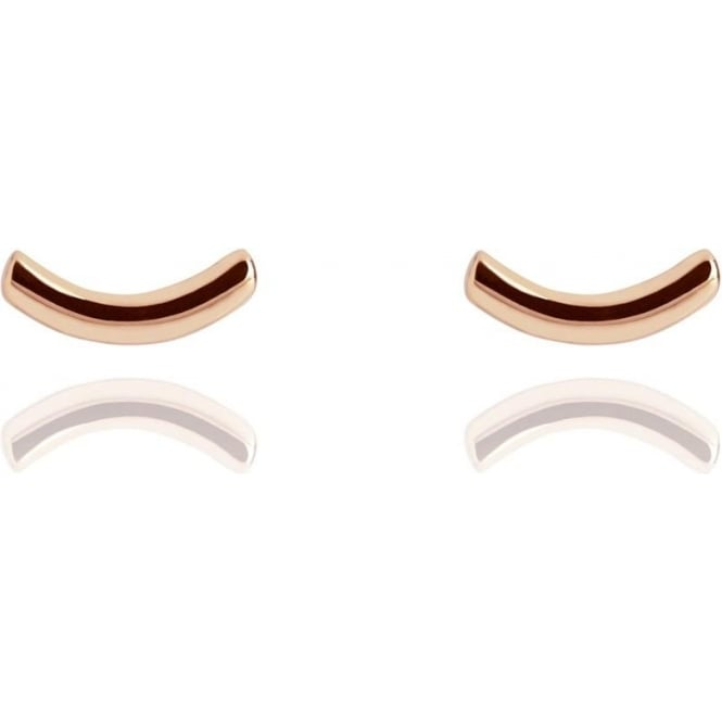 LIFE & VITALITY Arc Stud Earrings Rose Gold