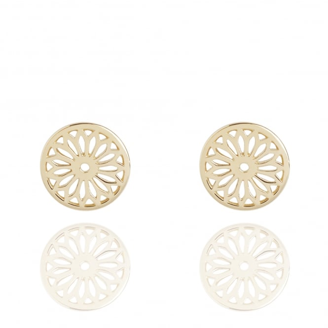 Life & Vitality Eternity Dreamcatcher Stud Earrings Gold