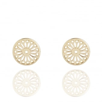 Eternity Dreamcatcher Stud Earrings Gold