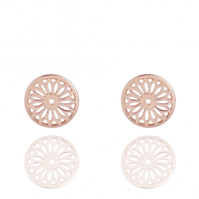 Life & Vitality Eternity Dreamcatcher Stud Earrings Rose Gold