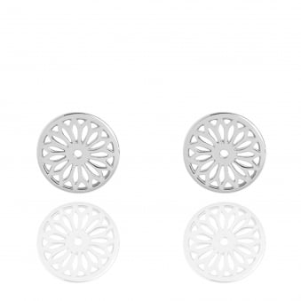 Eternity Dreamcatcher Stud Earrings Silver