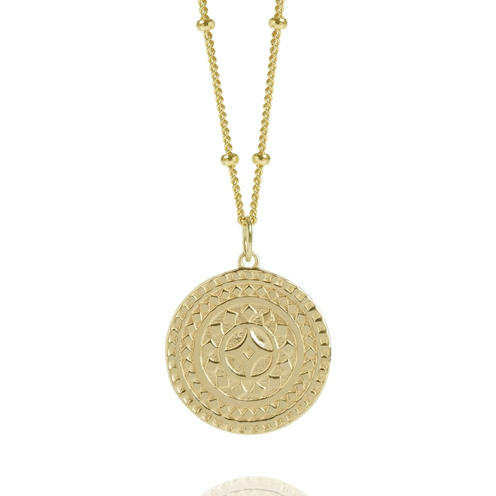 anna discs engraved london lou initial disc products necklace silver of