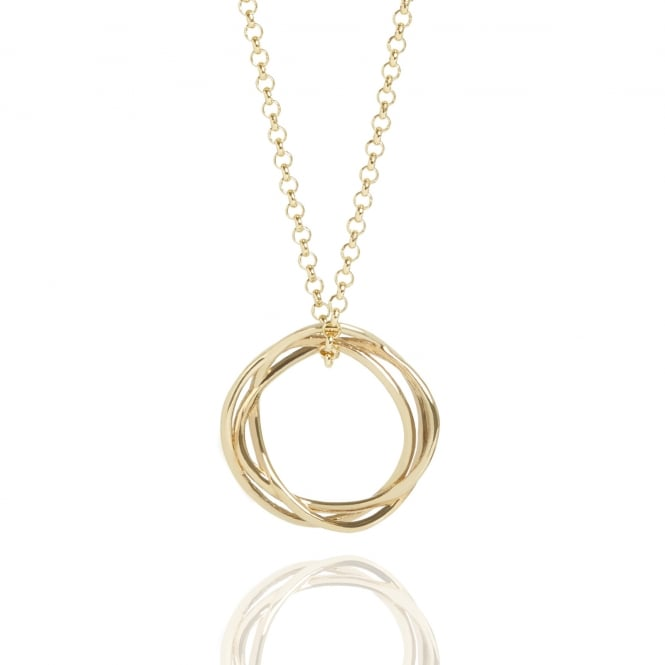 Life & Vitality Karma Circle Necklace Gold