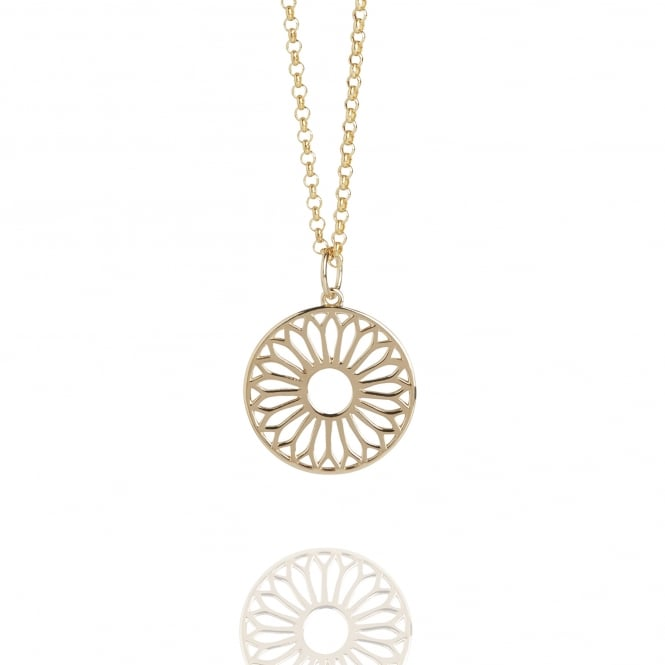 Life & Vitality Mini Eternity Dreamcatcher Necklace Gold