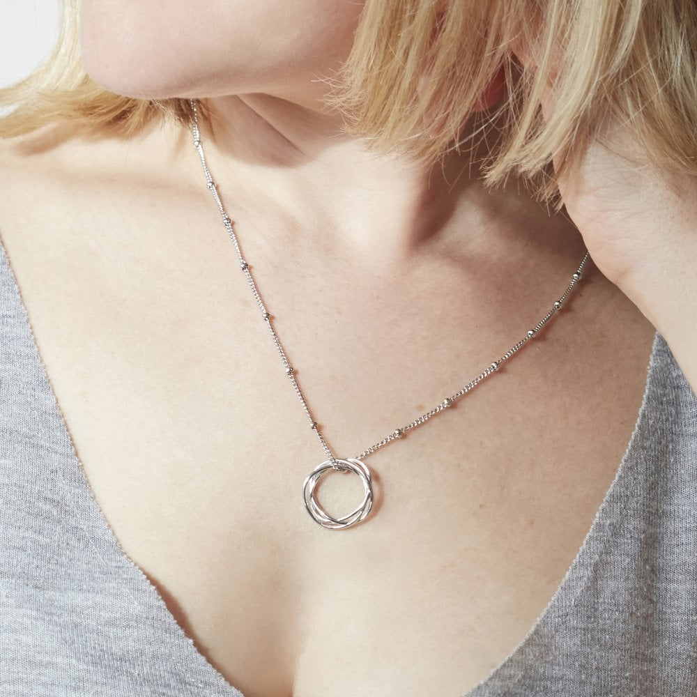 5c43e43594c558 Karma Circle Necklace Bead Chain Rose Gold   Circle of Life Necklace ...