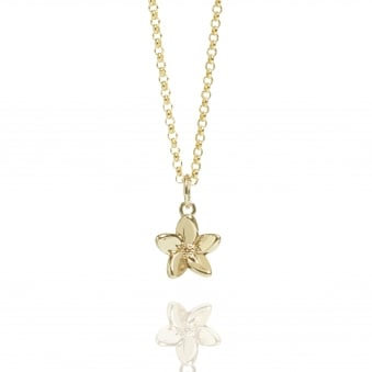 Forget Me Not Necklace Gold