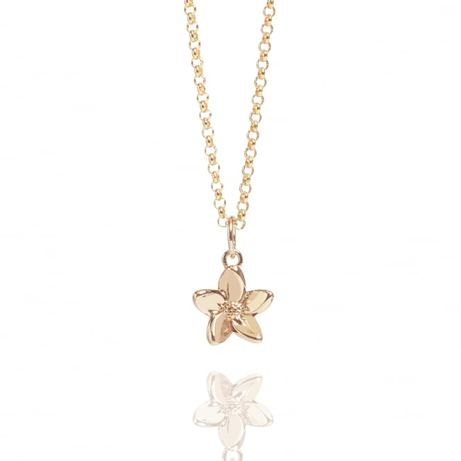 LOVE Forget Me Not Necklace Rose Gold