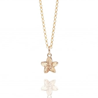 Forget Me Not Necklace Rose Gold