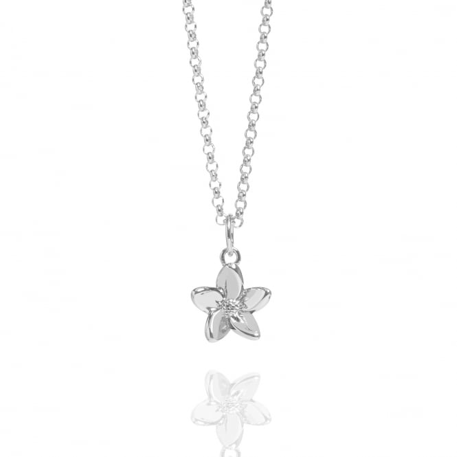 Love Forget Me Not Necklace Silver