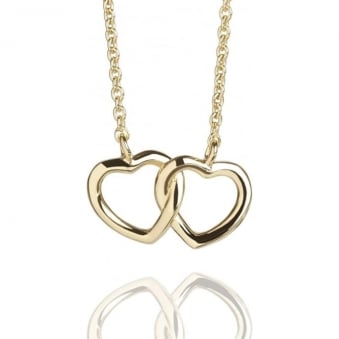 Hearts Entwined Necklace Gold Vermeil