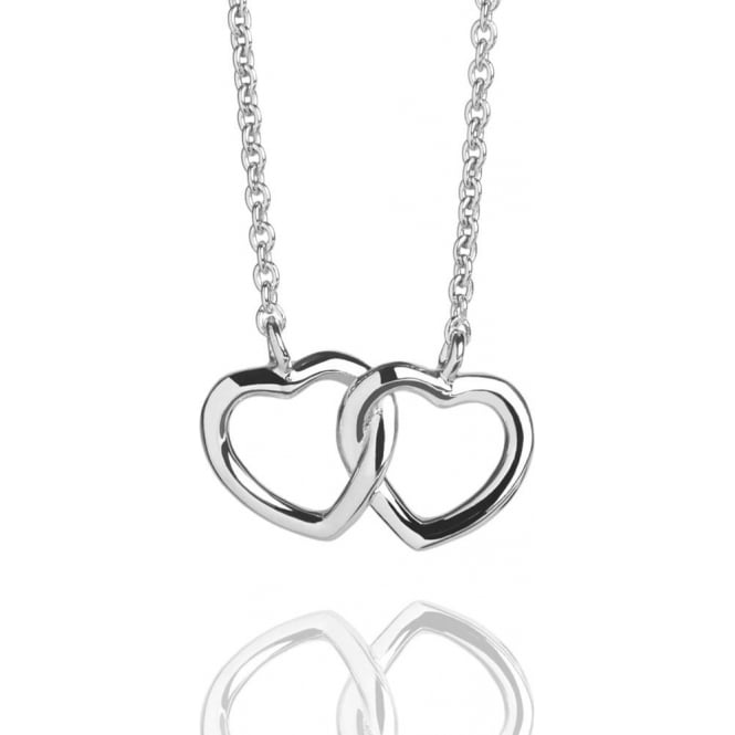 Love Hearts Entwined Necklace Sterling Silver