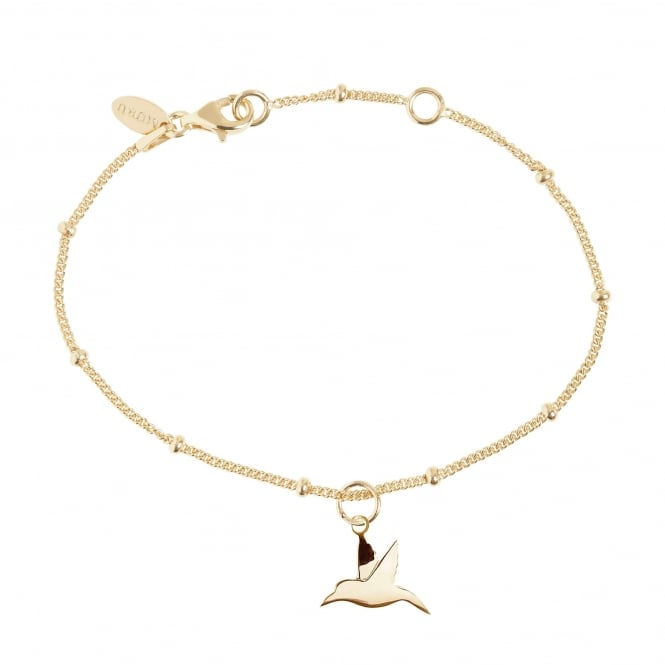 Love Hummingbird Bead Bracelet Gold