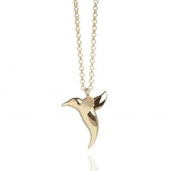 Hummingbird Necklace Gold (Long)