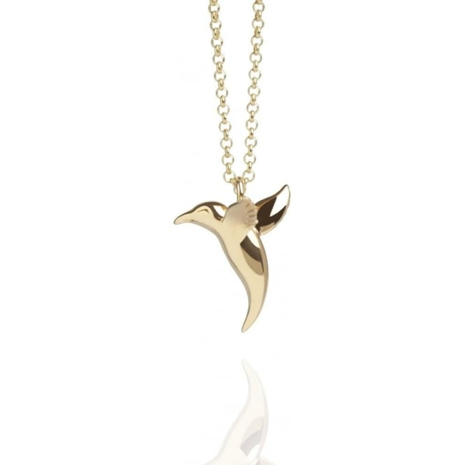 LOVE Hummingbird Necklace Gold