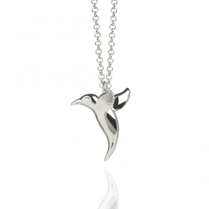 Love Hummingbird Necklace Silver (Long)