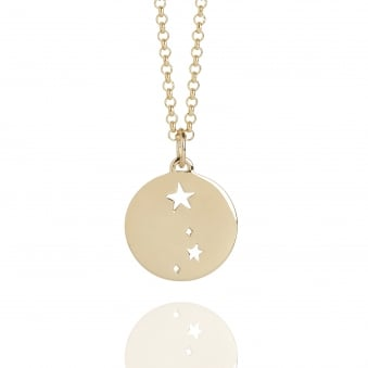 Aries Star Sign Necklace Gold