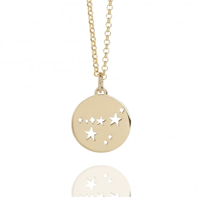 My Constellation Capricorn Star Sign Necklace Gold