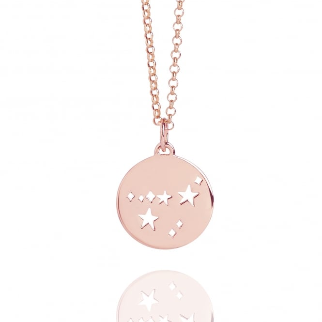 MY CONSTELLATION Capricorn Star Sign Necklace Rose Gold