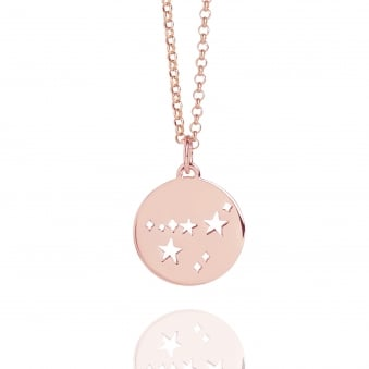 Capricorn Star Sign Necklace Rose Gold