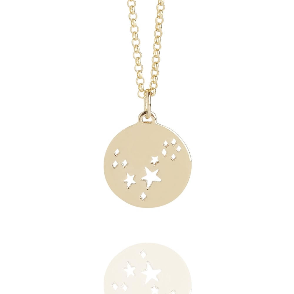 Pisces star sign necklace gold gold vermeil necklaces muru jewellery pisces star sign necklace gold mozeypictures Choice Image