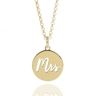 Mrs Charm Necklace Gold