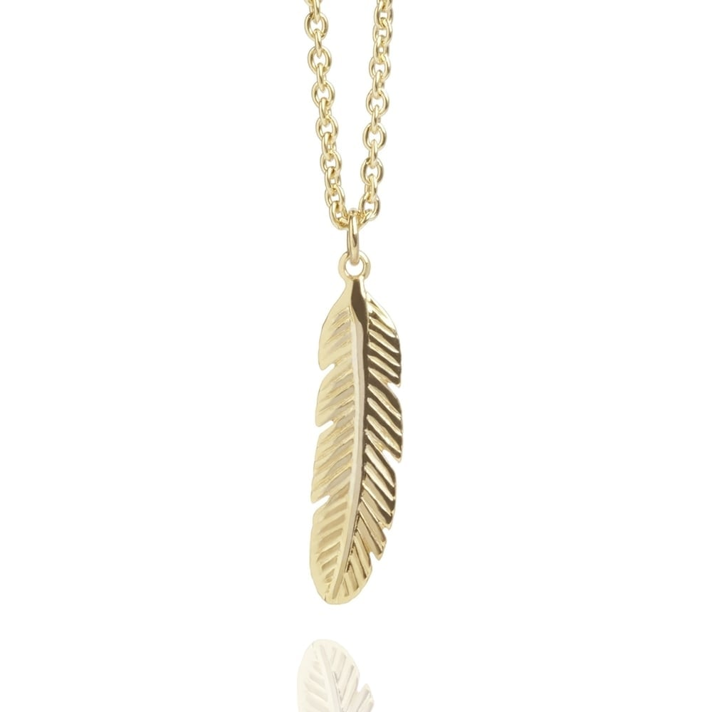 Feather Necklace Gold (Long)  9ff82d287a20