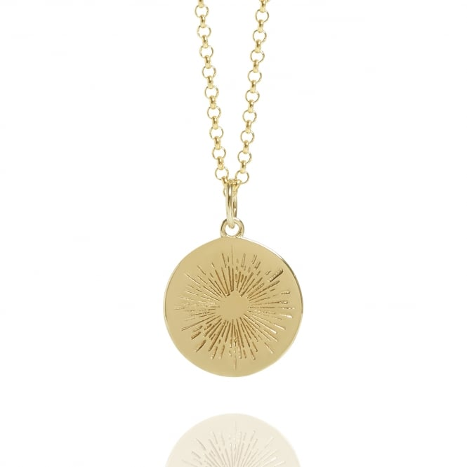 Positivity Positive Energy Coin Necklace Gold