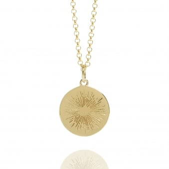 Positive Energy Coin Necklace Gold