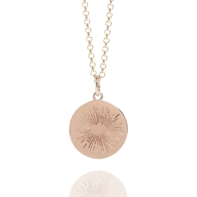 Positivity Positive Energy Coin Necklace Rose