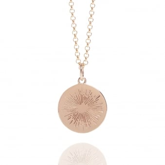 Positive Energy Coin Necklace Rose