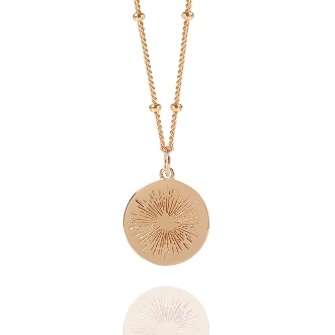 POSITIVITY Rose Gold Positive Energy Coin Necklace With Bead Chain
