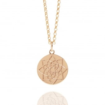 Prosperity Coin Necklace Rose Gold