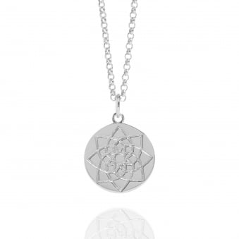 Prosperity Coin Necklace Silver