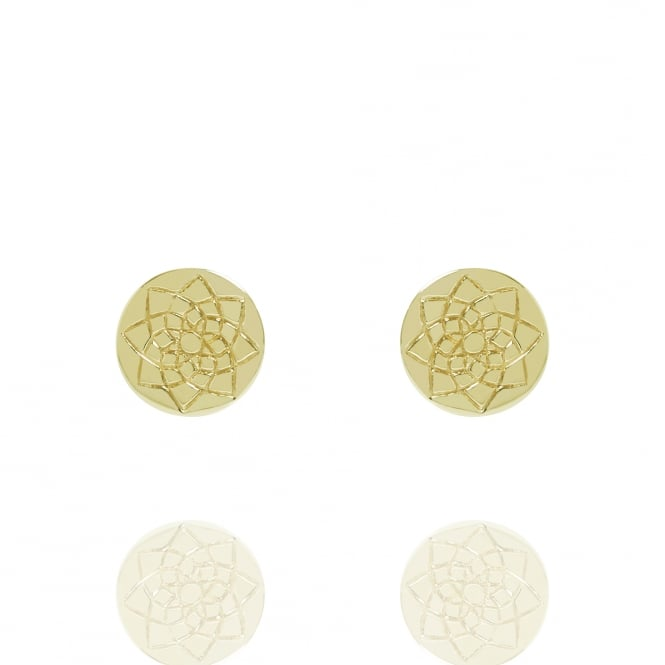 Prosperity Coin Stud Earrings Gold