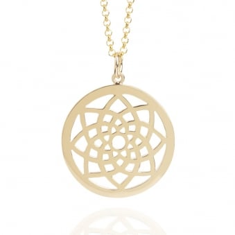 Prosperity Dreamcatcher Necklace Gold (Long)