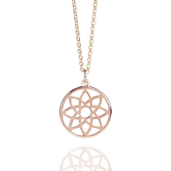 PROSPERITY Dreamcatcher Necklace Rose Gold
