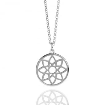 Prosperity Dreamcatcher Necklace Sterling Silver