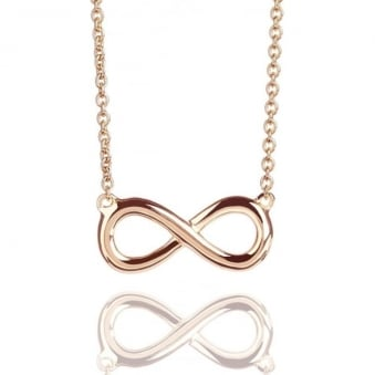 Infinity Necklace Rose Gold
