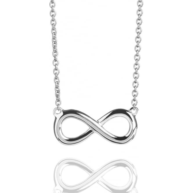Prosperity & Success Infinity Necklace Silver