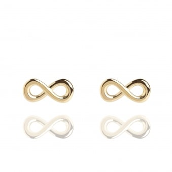 Infinity Stud Earrings Gold