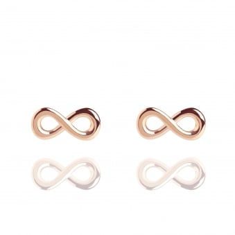 Infinity Stud Earrings Rose Gold