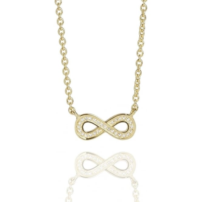 Prosperity Infinity Topaz Necklace Gold
