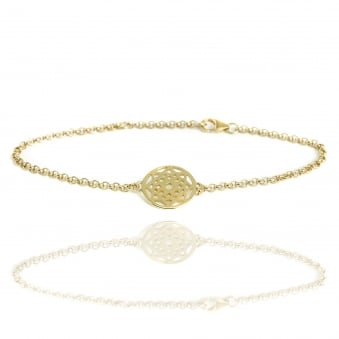 Prosperity Dreamcatcher Bracelet Gold