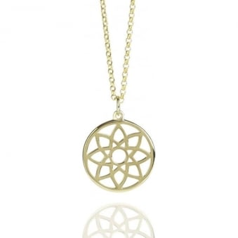 Prosperity Dreamcatcher Necklace Gold