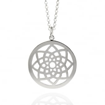 Prosperity Dreamcatcher Necklace Silver (Long)