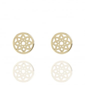 Prosperity Dreamcatcher Stud Earrings Gold