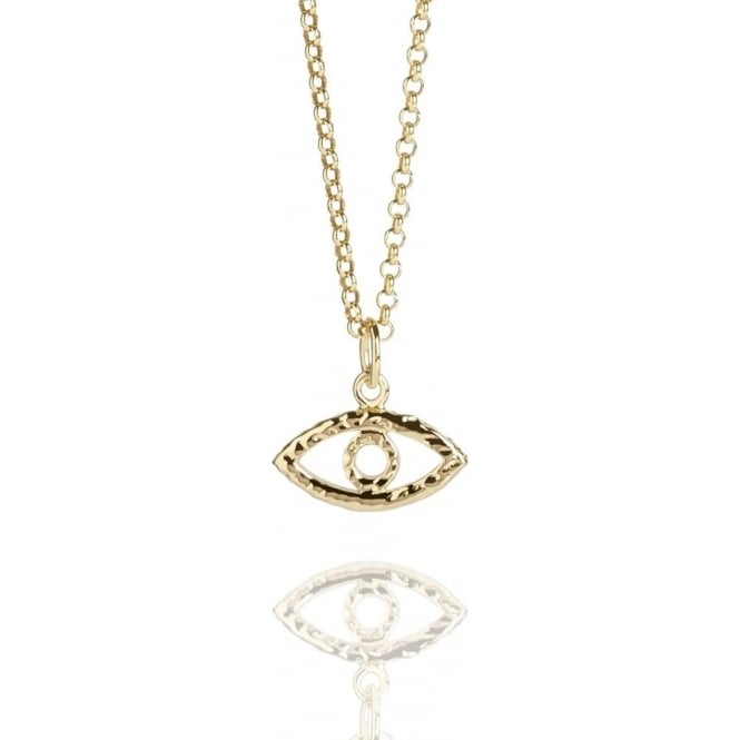 Protection Evil Eye Necklace Gold Vermeil