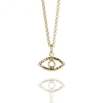 Evil Eye Necklace Gold Vermeil