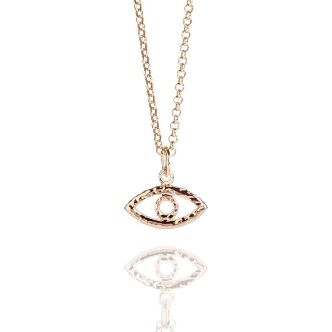 Protection Evil Eye Necklace Rose Gold
